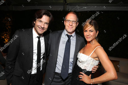 """Jason Bateman, New Line Cinema's Toby Emmerich and Jennifer Aniston seen at the Los Angeles Premiere of New Line Cinema's """"Horrible Bosses 2"""" on Thursday, Nov 20th, 2014, in Los Angeles"""