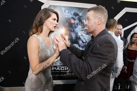 Heather Doerksen and Max Martini seen at the Los Angeles Premiere of Warner Bros Pictures and Legendary Pictures 'PACIFIC RIM', on Tuesday, July, 9, 2013 in Los Angeles