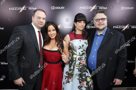 Producer Thomas Tull, Alba Tull, Lorenza Newton and Screenplay Writer/Director Guillermo del Toro seen at the Los Angeles Premiere of Warner Bros Pictures and Legendary Pictures 'PACIFIC RIM', on Tuesday, July, 9, 2013 in Los Angeles