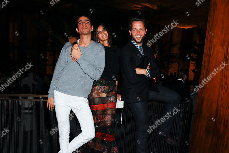 Carine Roitfeld and Derek Blasberg and Vladimir Restoin-Roitfeld attend the after party for the New York premiere of Mademoiselle C presented by Cohen Media and sponsored by Absolute Elyx, LoveGold, and The Hollywood Reporter at the Four Season Restaurant on in New York