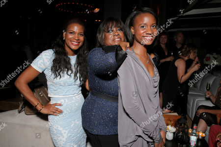 """Sonia Evans, Chaz Ebert and Raven Evans attend Magnolia Pictures' Los Angeles Premiere of """"Life Itself"""" at the Warwick on in Hollywood, California"""