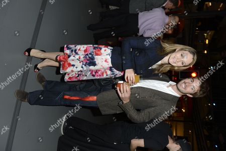 Olympic silver medallist Zac Purchase with guest attends the after party following the 'BBC Children in Need' gala performance of 'Mamma Mia' on in London, UK