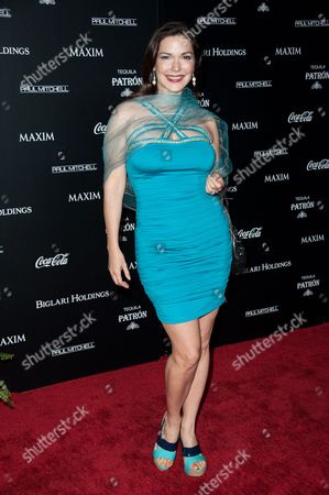 Laura Harring arrives at the MAXIM Hot 100 Party on in West Hollywood, Calif
