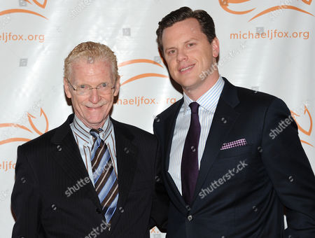 "Stock Photo of Television correspondent Bill Geist and son Willie Geist attend ""A Funny Thing Happened on the Way To Cure Parkinson's"" Michael J. Fox Foundation for Parkinson???s Research benefit at the Waldorf-Astoria Hotel on in New York"