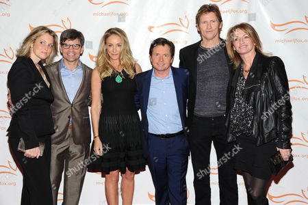 "Ali Wentworth, George Stephanopoulos, Tracy Pollan, Michael J Fox, Denis Leary and Ann Leary attend ""A Funny Thing Happened on the Way To Cure Parkinson's"" Michael J. Fox Foundation for Parkinson???s Research benefit at the Waldorf-Astoria Hotel on in New York"