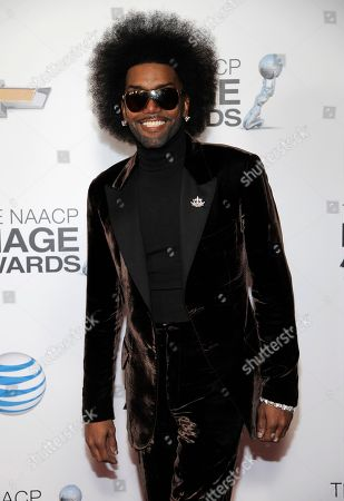 Stock Image of Norwood Young arrives at the 44th Annual NAACP Image Awards at the Shrine Auditorium in Los Angeles on