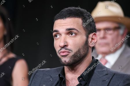 Haaz Sleiman on stage at National Geographic Channel 2015 Winter TCA, in Pasadena, Calif