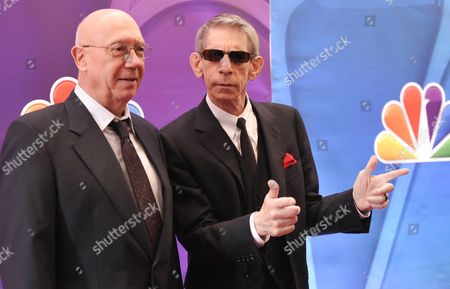 "Actors Dann Florek, left, Richard Belzer from ""Law & Order: SVU"" attend the NBC Network 2013 Upfront at Radio City Music Hall on in New York"