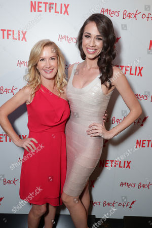 """Angela Kinsey and Colleen Ballinger seen at Netflix original series """"Haters Back Off!"""" Screening Event, in Los Angeles, CA"""