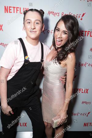 "Trevor Moran and Colleen Ballinger seen at Netflix original series ""Haters Back Off!"" Screening Event, in Los Angeles, CA"