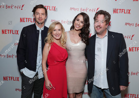 "Erik Stocklin, Angela Kinsey, Colleen Ballinger and Steve Little seen at Netflix original series ""Haters Back Off!"" Screening Event, in Los Angeles, CA"
