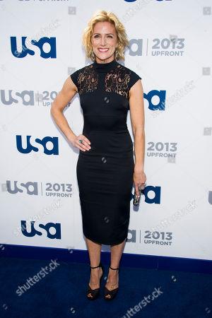 Kari Matchett attends the USA Network Upfront on in New York