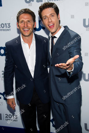 Mark Feuerstein, left, and Paulo Costanzo attend the USA Network Upfront on in New York
