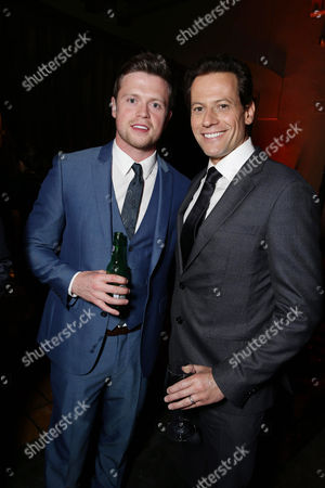 "Hugo Johnstone-Burt and Ioan Gruffudd seen at New Line Cinema presents the Los Angeles World Premiere of ""San Andreas"" at TCL Chinese Theatre, in Hollywood, CA"