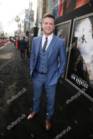 "Hugo Johnstone-Burt seen at New Line Cinema presents the Los Angeles World Premiere of ""San Andreas"" at TCL Chinese Theatre, in Hollywood, CA"