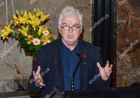Comic Relief Chief Executive, Kevin Cahill, speaks at the Empire State Building lighting in honor of NBC's Red Nose Day entertainment charity event, in New York