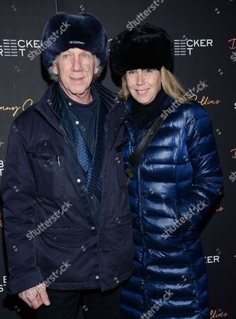 "Bob Gruen and wife Elizabeth Gregory-Gruen attend the premiere of ""Danny Collins"" at AMC Lincoln Square, in New York"