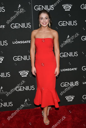 """Stock Image of Angela Ashton attends the premiere of """"Genius"""" at the Museum of Modern Art, in New York"""