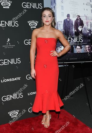 """Angela Ashton attends the premiere of """"Genius"""" at the Museum of Modern Art, in New York"""