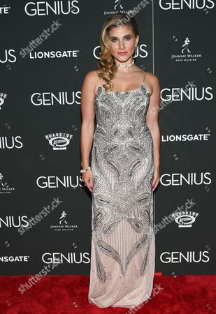 """Marisa Saks attends the premiere of """"Genius"""" at the Museum of Modern Art, in New York"""