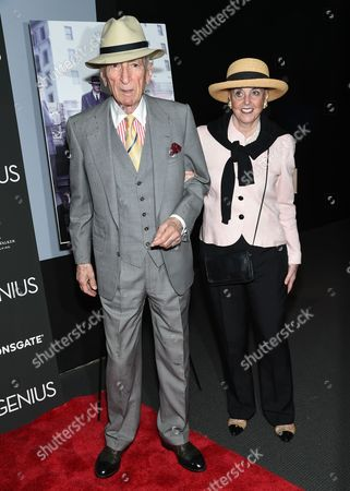"""Author Gay Talese and wife Nan Talese attend the premiere of """"Genius"""" at the Museum of Modern Art, in New York"""