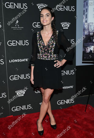 """Elena Rusconi attends the premiere of """"Genius"""" at the Museum of Modern Art, in New York"""