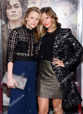 "Mamie Gummer Mamie and Louisa Gummer attend the premiere for ""Suffragette"" at the Paris Theatre, in New York"
