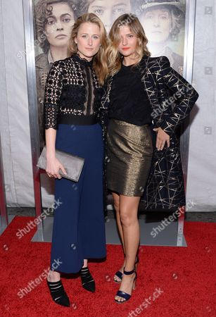 "Mamie Gummer, left, and Louisa Gummer attend the premiere for ""Suffragette"" at the Paris Theatre, in New York"