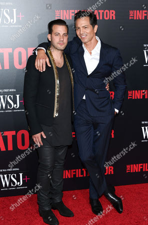 """Director Brad Furman, left, and actor Benjamin Bratt attend the premiere of """"The Infiltrator"""" at AMC Loews Lincoln Square, in New York"""