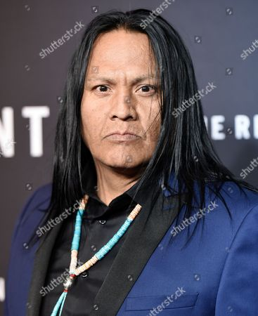 """Actor Arthur Redcloud attends the premiere for """"The Revenant"""" at AMC Loews Lincoln Square, in New York"""