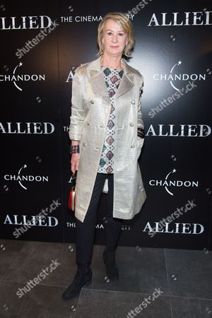 "Costume Designer Joanna Johnston attends a special screening of ""Allied"", hosted by The Cinema Society, at iPic Theater, in New York"