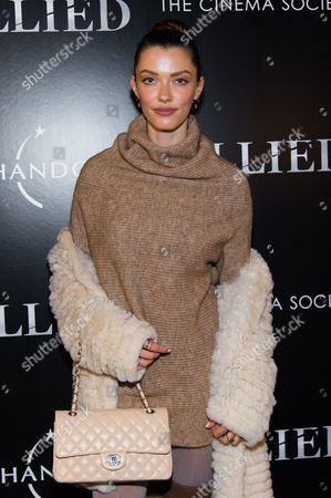 """Model Anna Christina Schwartz attends a special screening of """"Allied"""", hosted by The Cinema Society, at iPic Theater, in New York"""