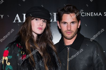 "Models Vanessa Moody, left, and Jake Davies attend a special screening of ""Allied"", hosted by The Cinema Society, at iPic Theater, in New York"