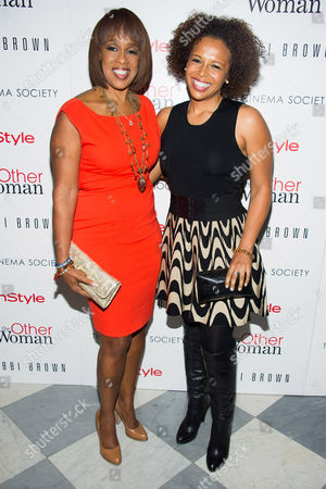"""Gayle King, left, and daughter Kirby Bumpus attend the premiere of """"The Other Woman"""" hosted by The Cinema Society and Bobbi Brown on in New York"""
