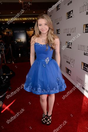 """Elise Luthman seen at Open Road Films Los Angeles Premiere of """"Little Boy"""" at Regal Cinemas LA Live Stadium 14 on Tuesday, April 14], 2015, in Los Angeles, CA"""