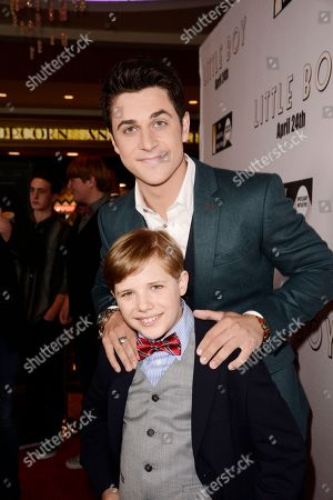 Stock Photo of Jakob Salvati and David Henrie seen at Open Road Films Los Angeles Premiere of 'Little Boy' at Regal Cinemas LA Live Stadium 14 on Tuesday, April 14], 2015, in Los Angeles, CA