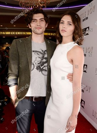 "Carter Jenkins and Sidney Allison seen at Open Road Films Los Angeles Premiere of ""Little Boy"" at Regal Cinemas LA Live Stadium 14 on Tuesday, April 14], 2015, in Los Angeles, CA"