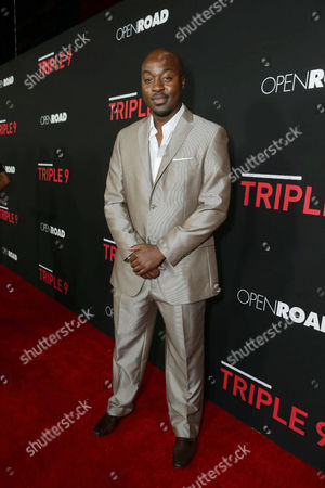 Stock Picture of Labrandon Shead seen at Open Road's 'Triple 9' Los Angeles Premiere at Regal L.A. Live, in Los Angeles, CA