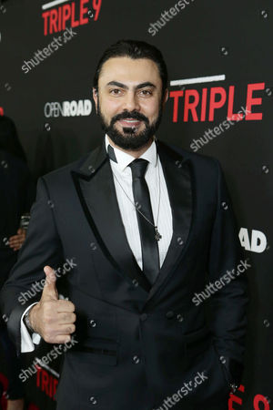 Stock Picture of Mohamed Karim seen at Open Road's 'Triple 9' Los Angeles Premiere at Regal L.A. Live, in Los Angeles, CA