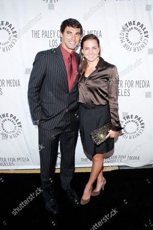 Ricky Berens and Rebecca Soni attend the Paley Center LA Benefit at the Rooftop of The Lot, in West Hollywood, Calif