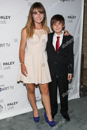 """From left, actors Christina Robinson and Preston Bailey arrive at the PaleyFest Previews Fall TV Farewell to """"Dexter"""" at The Paley Center for Media on in Beverly hills, Calif"""