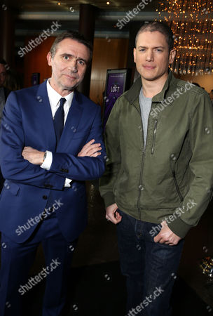 """Director Erik Van Looy and Wentworth Miller seen at the Premiere of """"The Loft"""" Featuring Ketel One Vodka, in Los Angeles"""