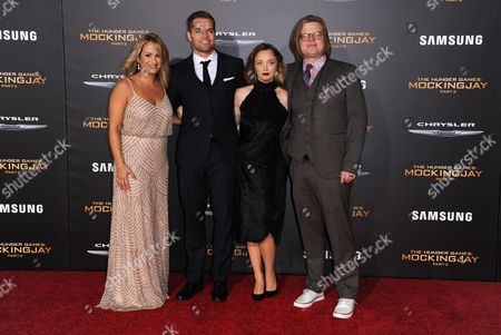 Wes Chatham, Jenn Brown, Kira Sternbach and Elden Henson seen at Los Angeles Premiere of Lionsgate's 'The Hunger Games: Mockingjay - Part 2', in Los Angeles, CA