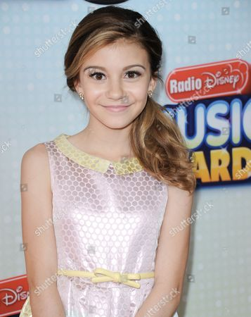 Genevieve Hannelius arrives at the Radio Disney Music Awards at the Nokia Theatre on in Los Angeles
