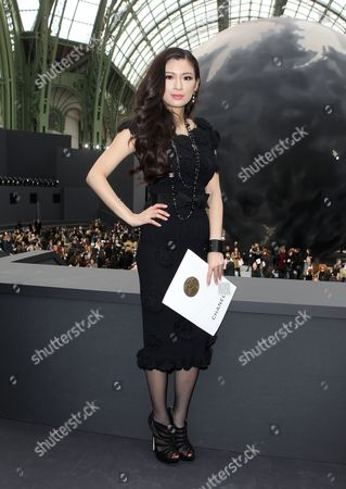 IMAGE DISTRIBUTED FOR RWE - Producer Rebecca Wang attends Chanel's Ready to Wear Fall-Winter 2013-2014 fashion collection at Paris Fashion week on