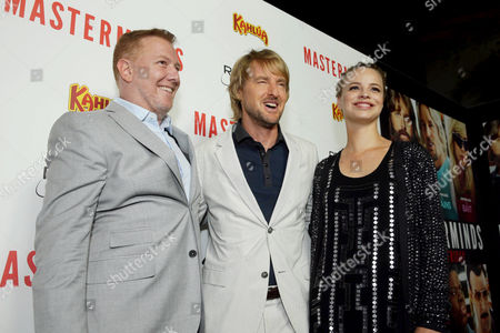 """Ryan Kavanaugh, CEO of Relativity Media, Owen Wilson and Jessica Roffey seen at Relativity Studios Presents """"Masterminds"""" Los Angeles Premiere at TCL Chinese Theatre, in Hollywood"""