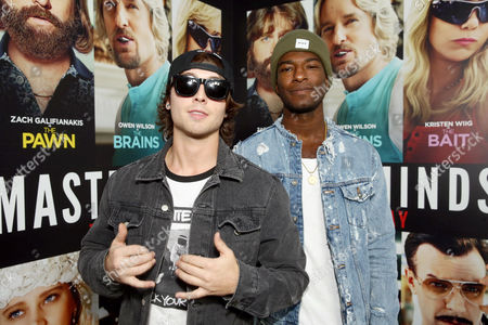 "Wesley Stromberg and Willie Jones seen at Relativity Studios Presents ""Masterminds"" Los Angeles Premiere at TCL Chinese Theatre, in Hollywood"