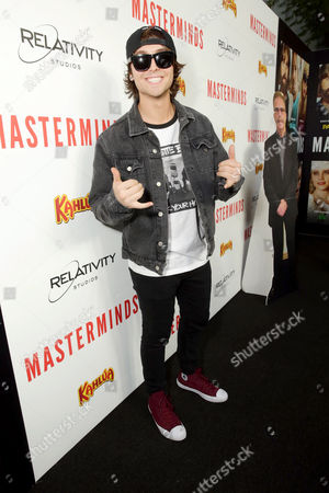"Wesley Stromberg seen at Relativity Studios Presents ""Masterminds"" Los Angeles Premiere at TCL Chinese Theatre, in Hollywood"