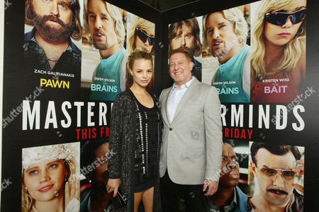 """Jessica Roffey and Ryan Kavanaugh, CEO of Relativity Media, seen at Relativity Studios Presents """"Masterminds"""" Los Angeles Premiere at TCL Chinese Theatre, in Hollywood"""