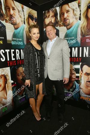 """Stock Photo of Jessica Roffey and Ryan Kavanaugh, CEO of Relativity Media, seen at Relativity Studios Presents """"Masterminds"""" Los Angeles Premiere at TCL Chinese Theatre, in Hollywood"""